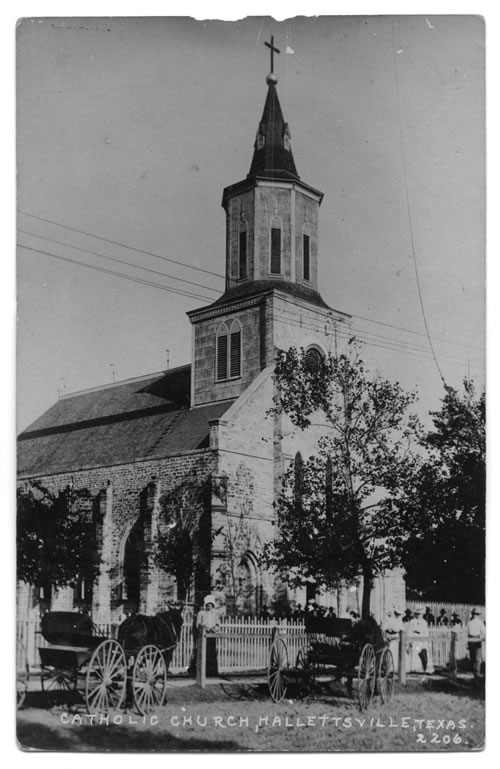 old catholic church in Hallettsville